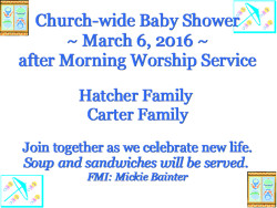 Baby Shower - March 6, 2016