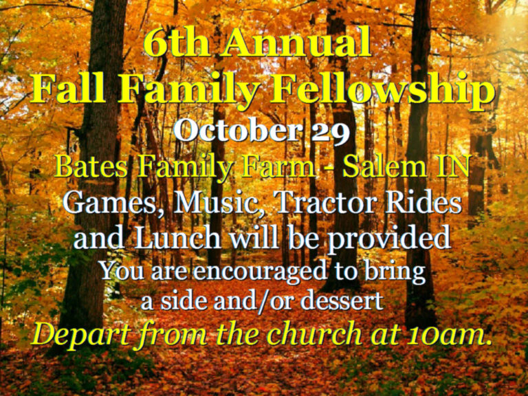 6th Annual Fall Family Fellowship