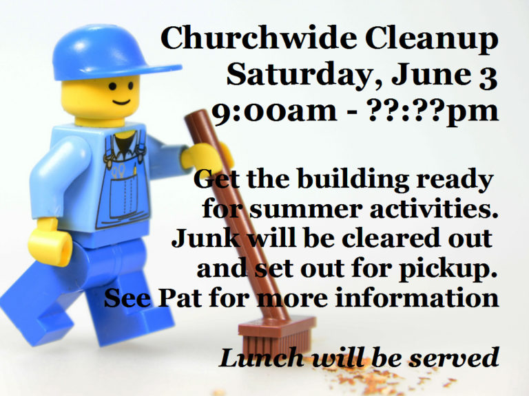 Church wide Cleaning