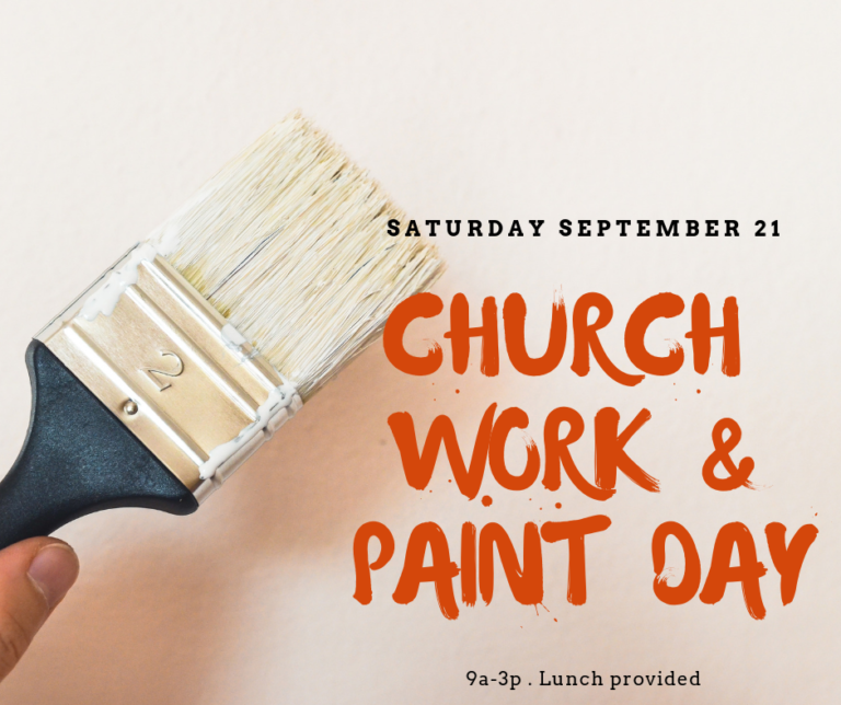 Church Work & Paint Day