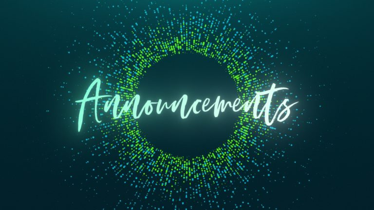 Announcements 03/22/2020